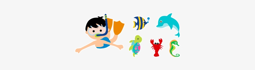 Fundo Do Mar Infantil Png Menino Fundo Do Mar Png Transparent