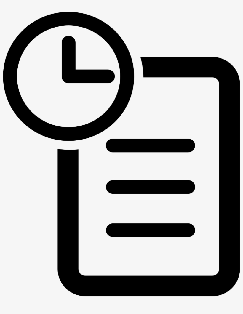 History Comments - Order History Icon Png Transparent PNG - 816x980