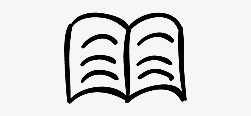 Text Book Hand Drawn Outline Vector - Hand Drawn Book Icon ...