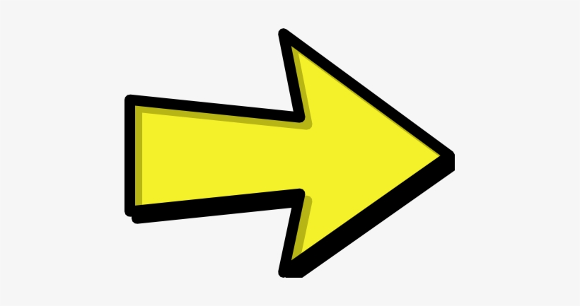 Arrow Outline Yellow Right /signs Symbol/arrows/arrows - Green Arrow  Pointing Right Transparent PNG - 467x353 - Free Download on NicePNG