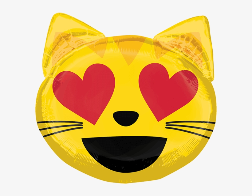 Globo Emoticon Cat Love - Emoticons Cat Love Transparent PNG