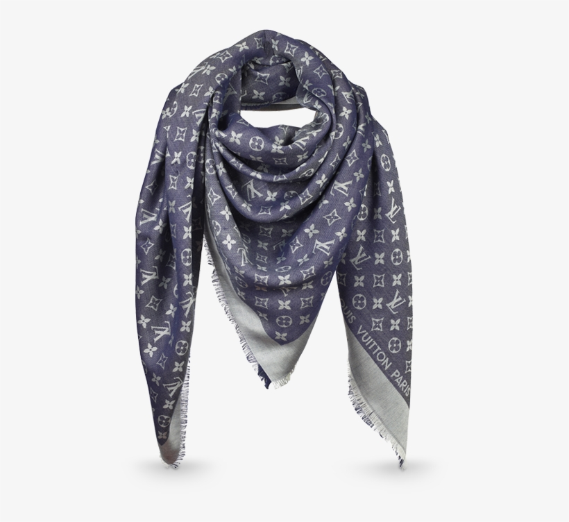 50ab44a88c9a Monogram Denim Shawl Via Louis Vuitton - Foulard Homme Louis Vuitton ...