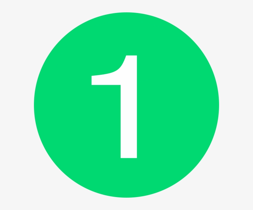 Number 1 Button Green Clip Art At Clker
