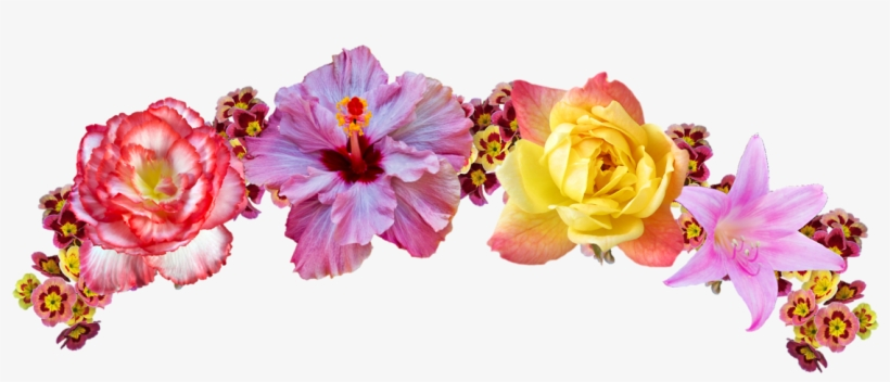 Transparent Rainbow Flower Crown Corona De Flores Dibujo