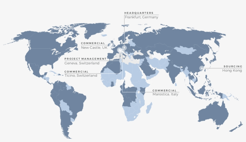 Geography - World Map Of Starbucks Locations Transparent PNG