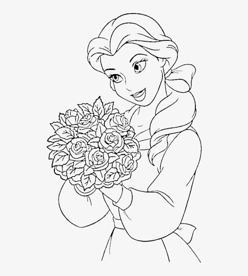 Princess Belle coloring page | Coloring pages | 915x820