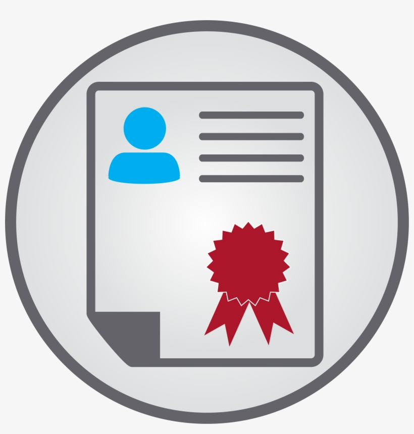 Certificate Training And Certification Icon Transparent Png