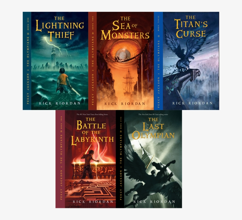Percy Jackson 5 Books Transparent Png 666x666 Free Download On Nicepng