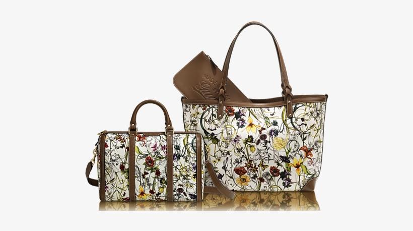 7afbdb9b440f Gucci Vintage Web Flora Canvas Boston Bag And (right) - Gucci - Canvas Floral  Tote Bag