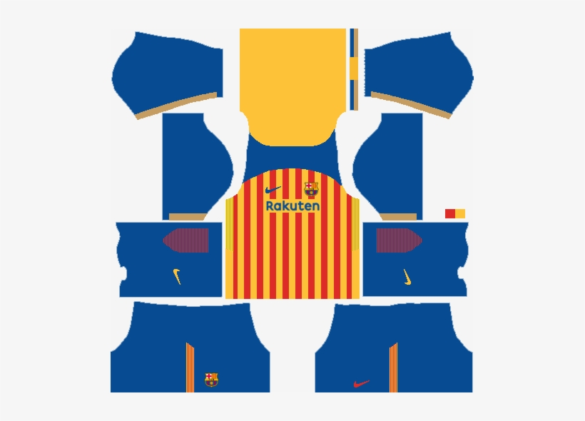 new product 901fa ac4c7 Fc Barcelona Senyera Kit - Dream League Soccer 2018 Kit ...