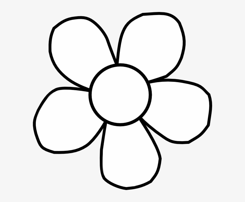 Flower black and white transparent. Clipart png x