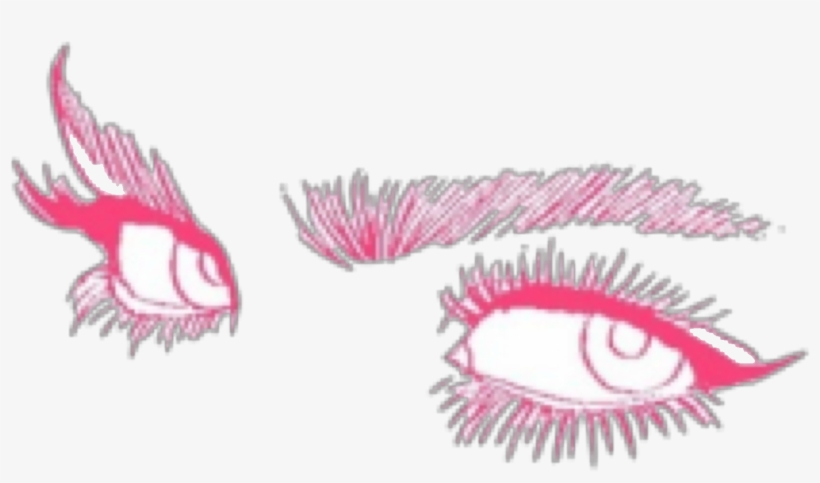 Eyes Pink Manga Anime Drawing Cute Girly Grunge Aesthet Eyes