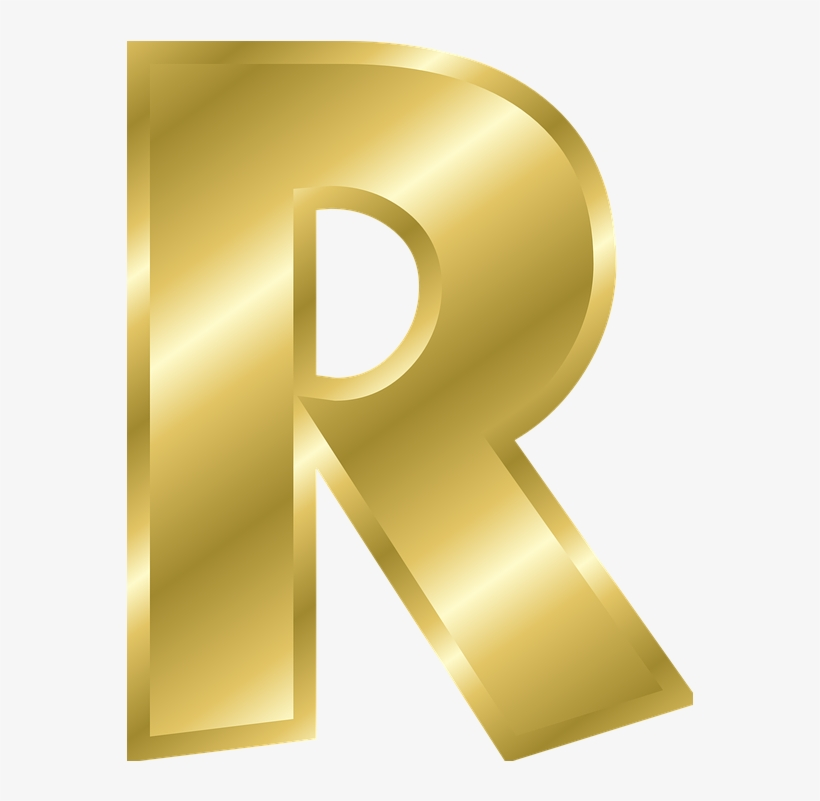 Letter R In Gold Transparent Png 622x800 Free Download On Nicepng
