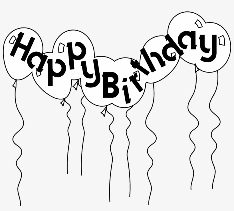 Happy Birthday Balloon Clipart Black And White Happy Birthday Gif Countdown Transparent Png 958x816 Free Download On Nicepng