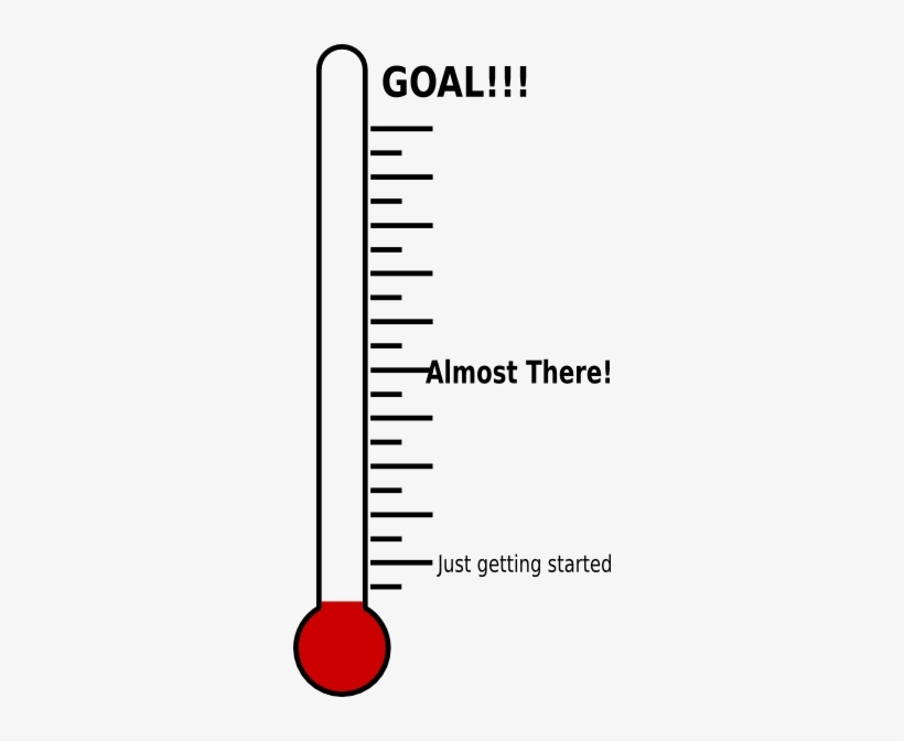 Fundraising thermometer goal clip art others png download 1000.