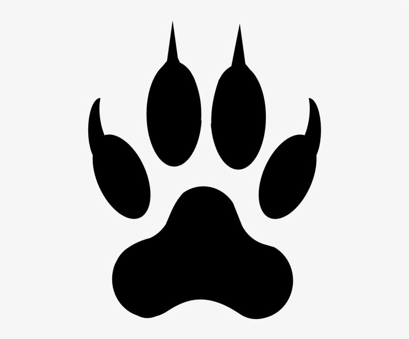 Dog Paw Print Outline - Footprint Of Lion Transparent PNG