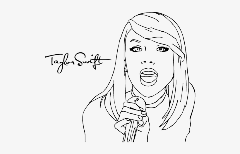 - Drawing Taylor Swift 11 - Taylor Swift Coloring Pages Transparent PNG -  600x470 - Free Download On NicePNG
