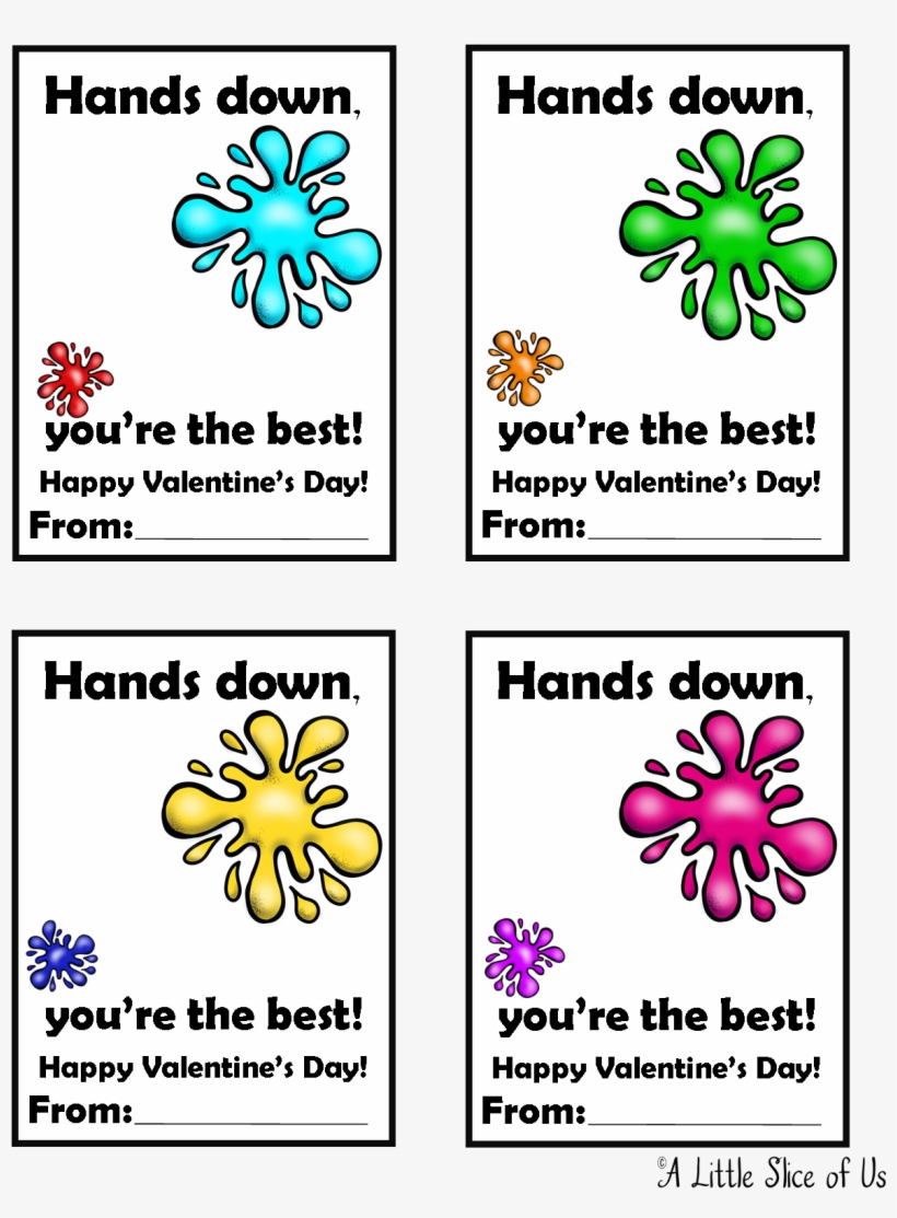 photograph relating to Hands Down You're the Best Printable identify Sticky Hand Printable Valentine - Sticky Hand Valentine