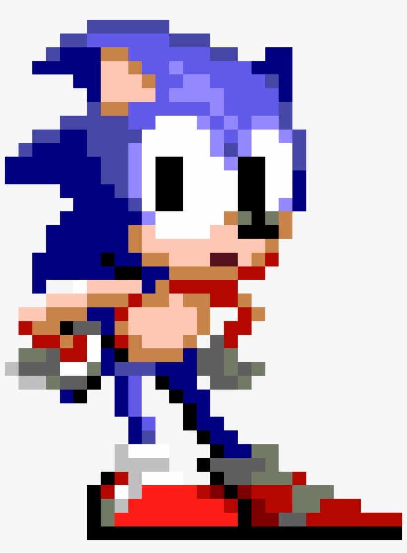 Sonic The Hedgehog - Sonic The Hedgehog Pixel Art Transparent PNG