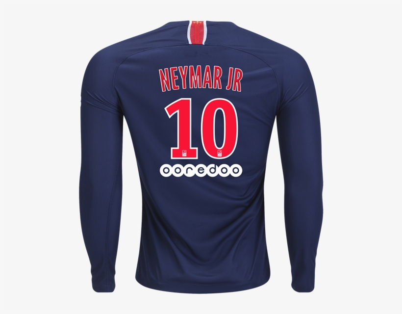 af1708a12ad Paris Saint-germain 18/19 Long Sleeve Home Jersey By - Psg Kylian Mbappe  Jersey