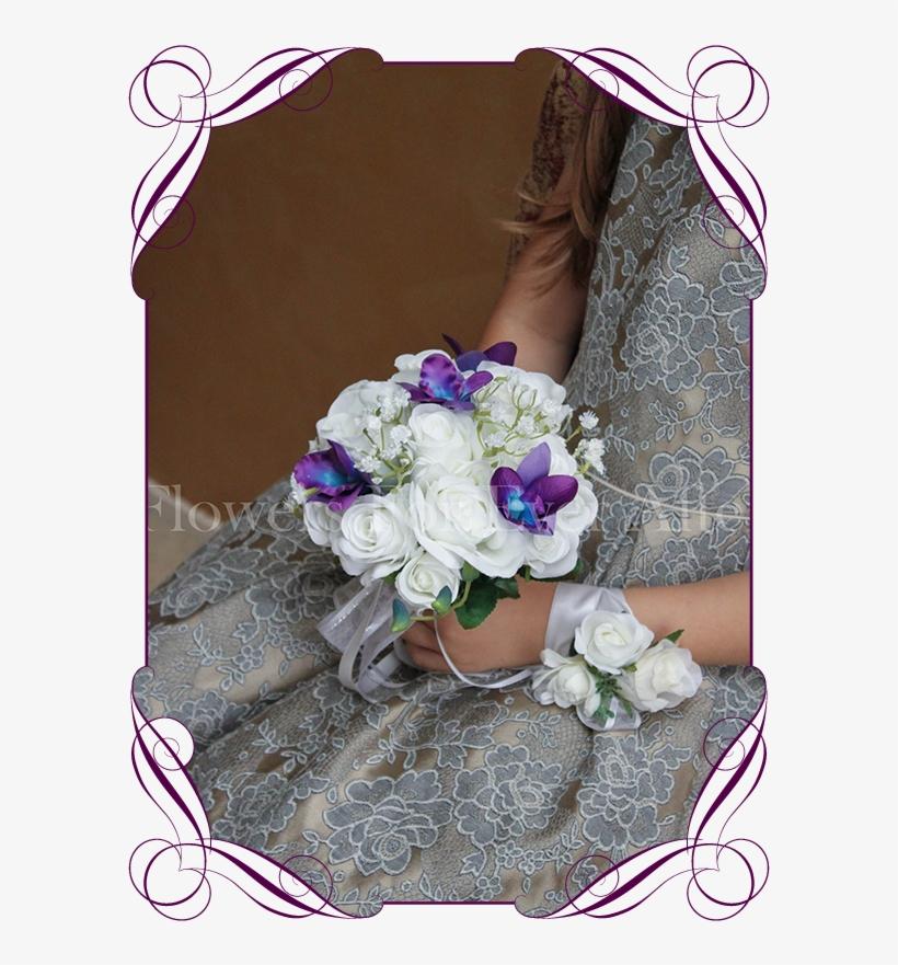 Silk Artificial Wedding Flower Girls Posy Bouquet With Artificial