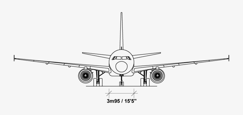 Drawn Airplane Airliner - Aircraft Drawing Front View