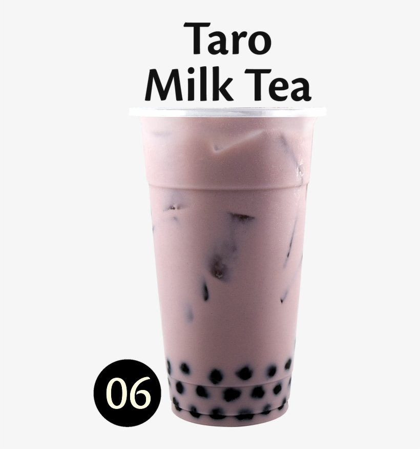 Taro Milk Tea Calories No Boba [22] - Thai Tea Transparent PNG