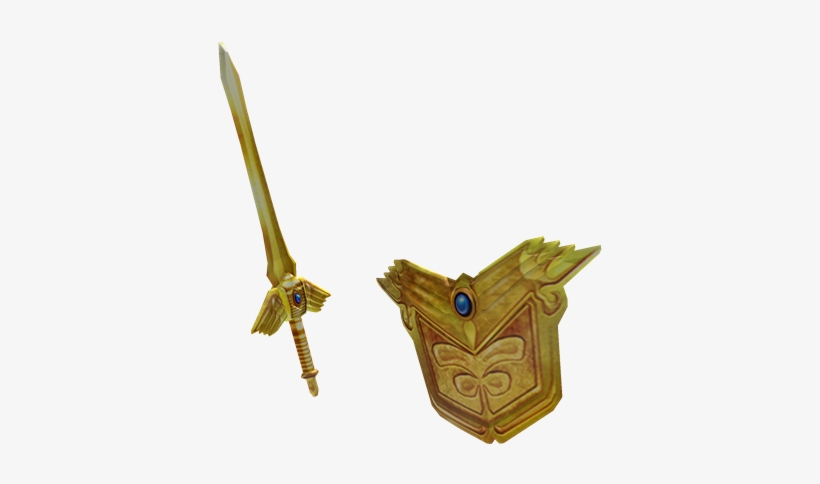 Epic Golden Sword And Shield - Roblox Golden Sword And Shield