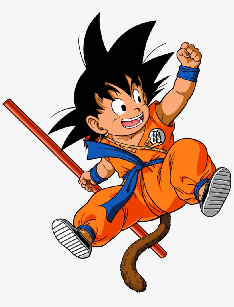 Kid Goku Dessin Dragon Ball Z En Couleur Transparent Png