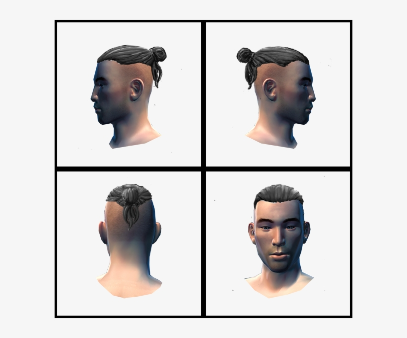 Ch Uploads Manbun Manner Frisur Undercut Zopf Transparent Png