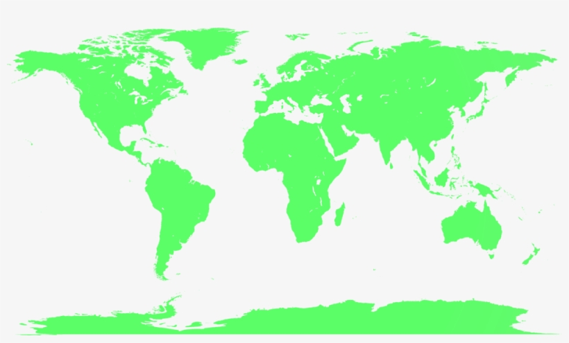 Map Of The World No Borders.World Blank Map No Borders Transparent Png 1000x556 Free
