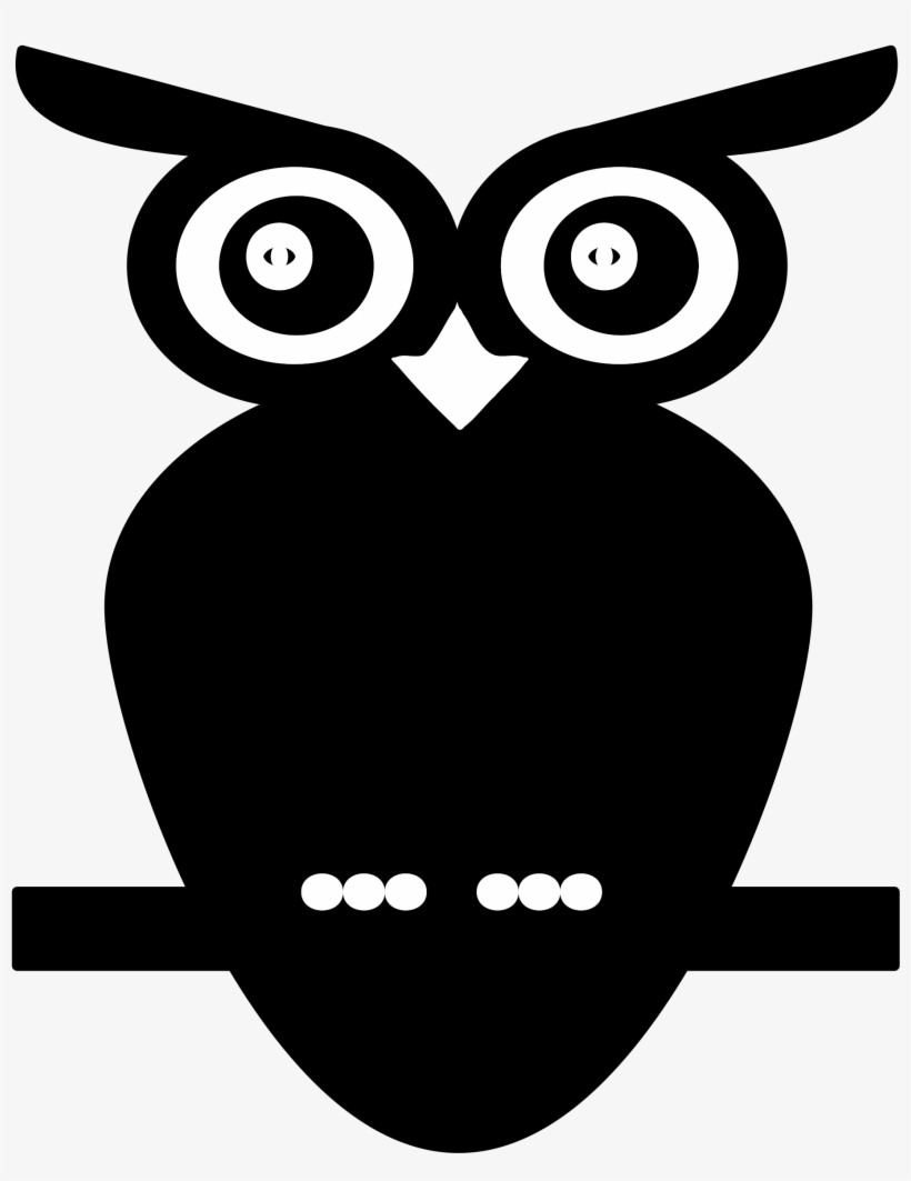 This Free Icons Png Design Of Black And White Owl Transparent Png