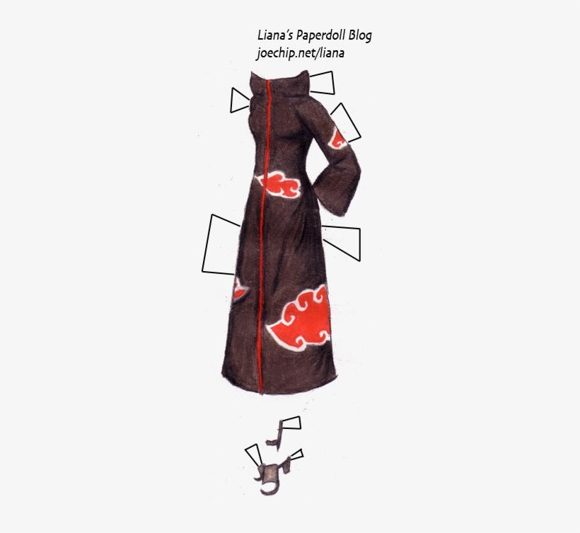 Naruto Akatsuki Cloud Cloak Tabbed Velvet Transparent Png 261x685 Free Download On Nicepng