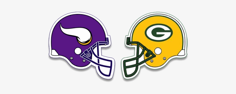 Minnesota Vikings Greenbay Packers Vikings Vs Packers Helmets Transparent Png 500x250 Free Download On Nicepng