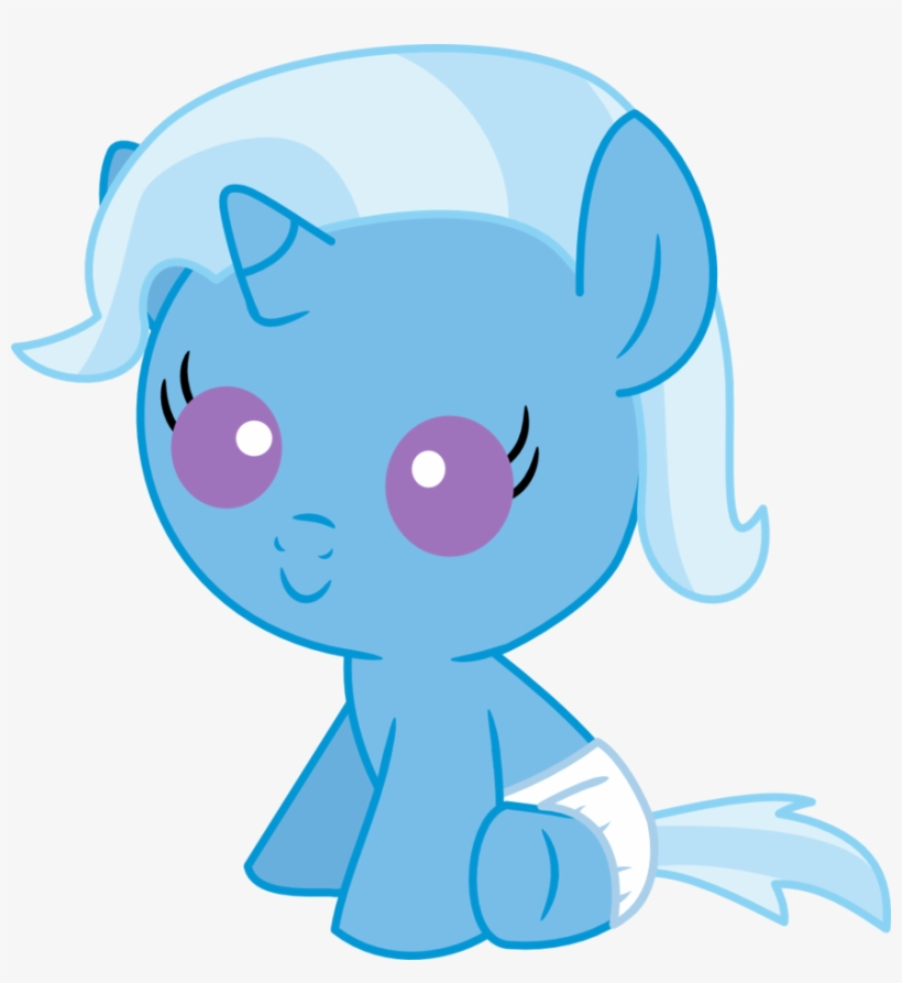 Mighty355, Baby, Baby Pony, Baby Trixie, Cute, Diaper, - My Little Pony Baby  Unicorn Transparent PNG - 876x912 - Free Download On NicePNG