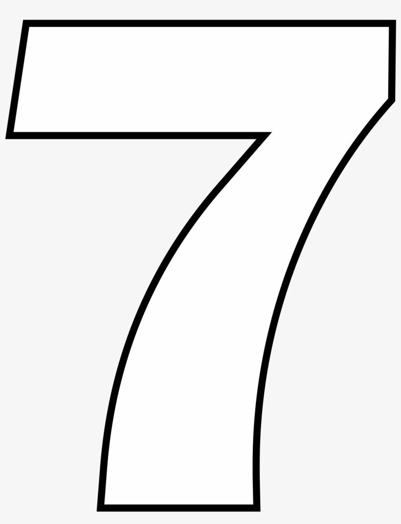 Open Desenho Do Numero 7 Transparent Png 2000x2588 Free