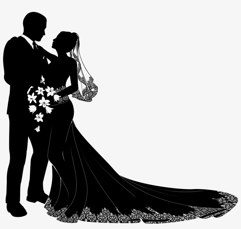 Wedding Clipart Png Format Bride And Groom Silhouette Vector Free Transparent Png 800x679 Free Download On Nicepng