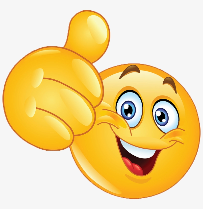 Smiley Face Thumbs Up Transparent PNG