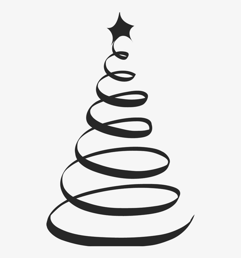 Spiral Clipart Christmas Tree Frames Illustrations Arboles De