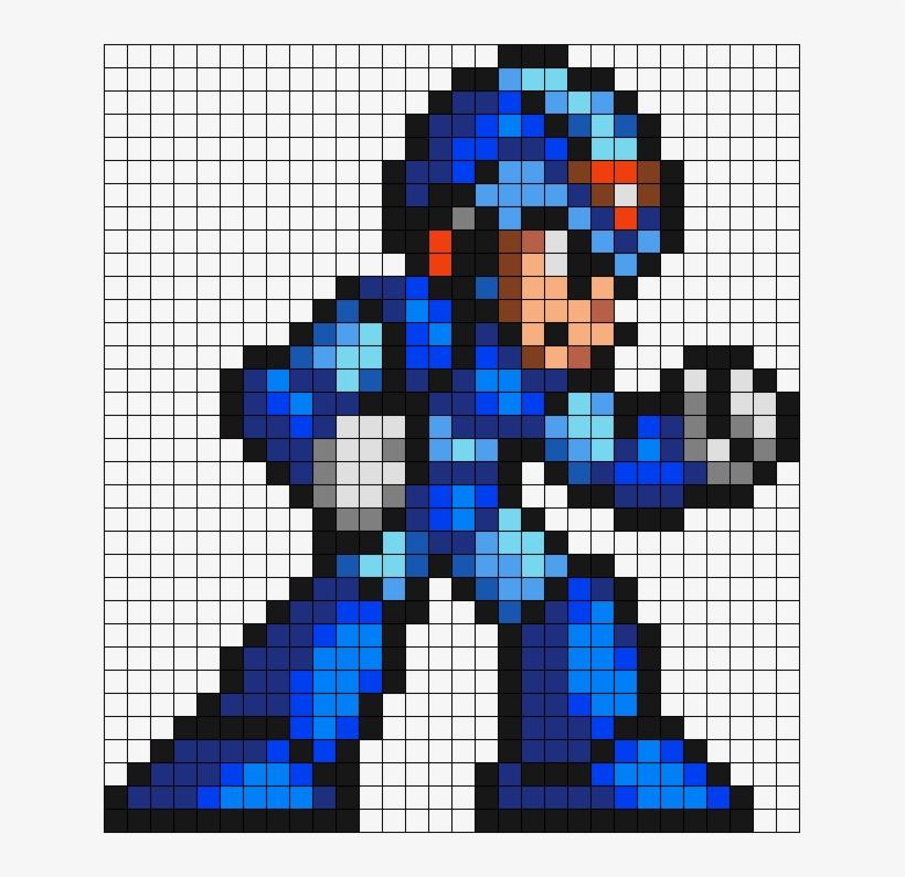 Mega Man X Perler Bead Pattern Bead Sprite Mega Man X