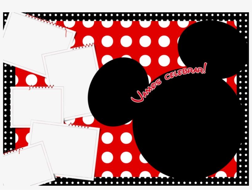 Convite Da Minnie Vermelha Com Moldura Clipart Minnie Molduras
