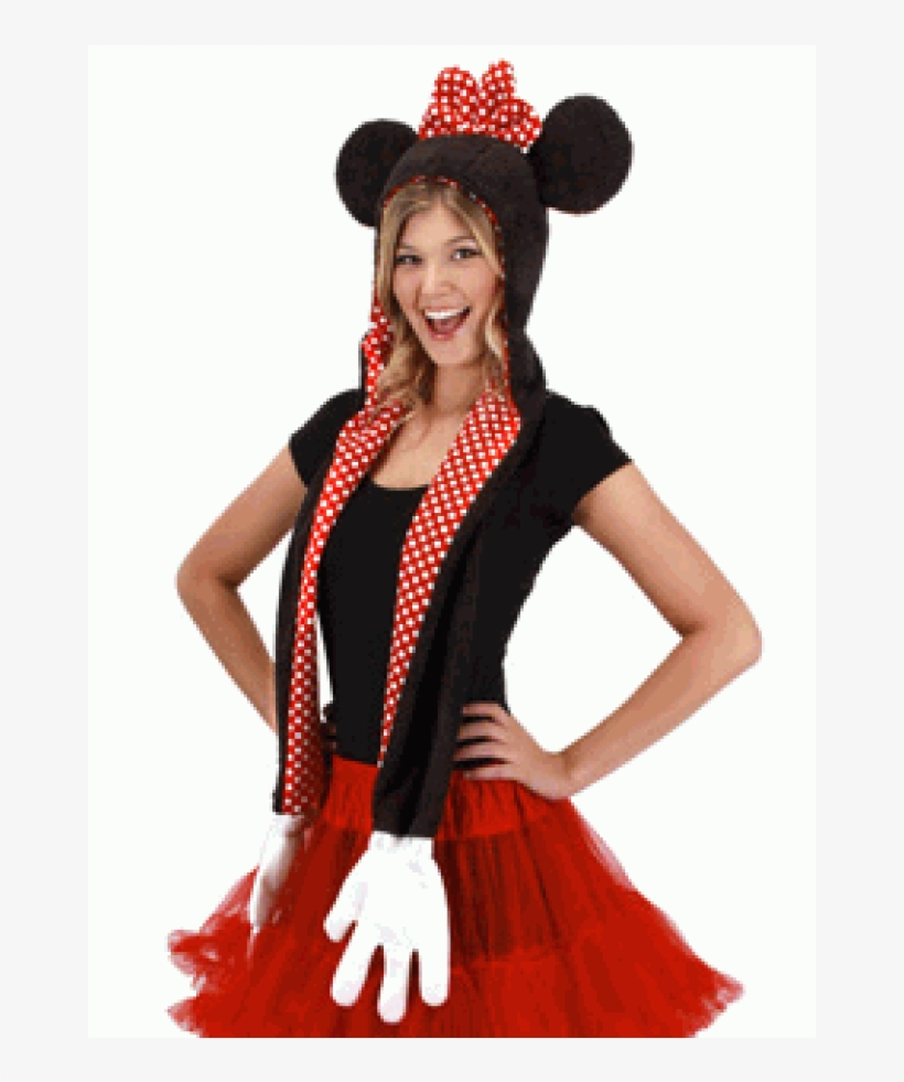 ea6ab2e9fa066 Disney Minnie Mouse Hoodie Scarf With Mittens At Cosplay - Mickey ...