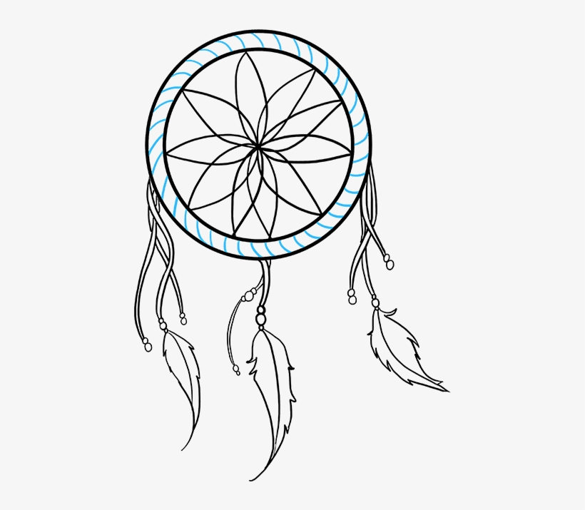 How to draw a dream catcher really easy drawing tutorial.