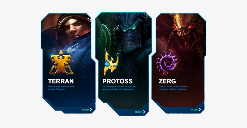 Starcraft - Zerg Protoss And Terran Transparent PNG