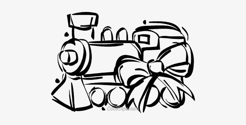 Toy Train Royalty Free Vector Clip Art Illustration