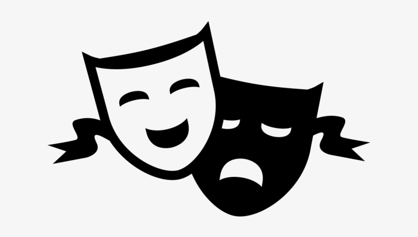Theatre Clipart Comedy Tragedy - Drama Masks Transparent ...