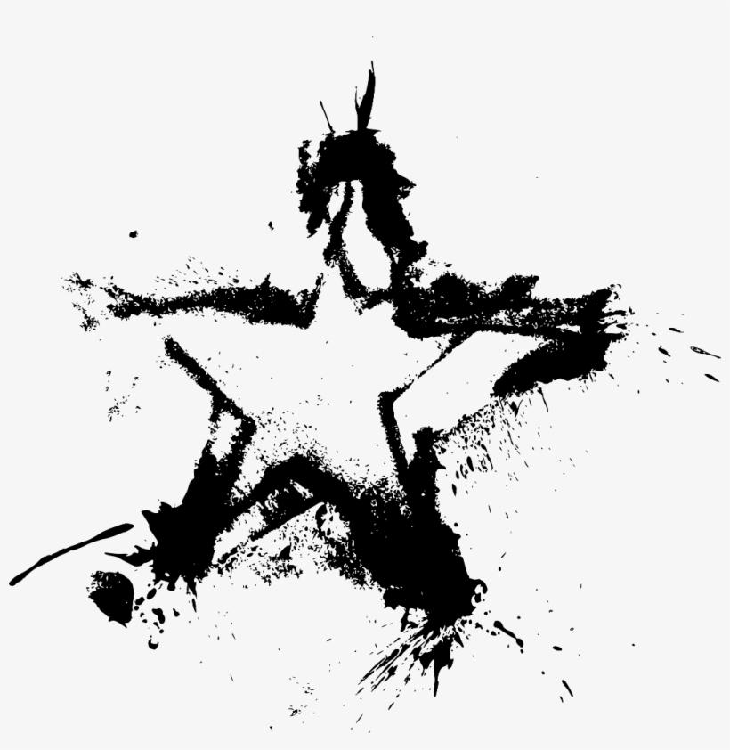 Ftestickers Star Grunge Paint Drops Splash Stamp Art