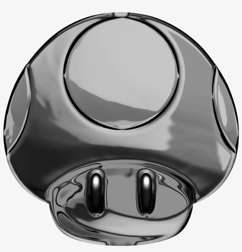 Metalmushroom Custom Mario Mushroom Png Transparent Png