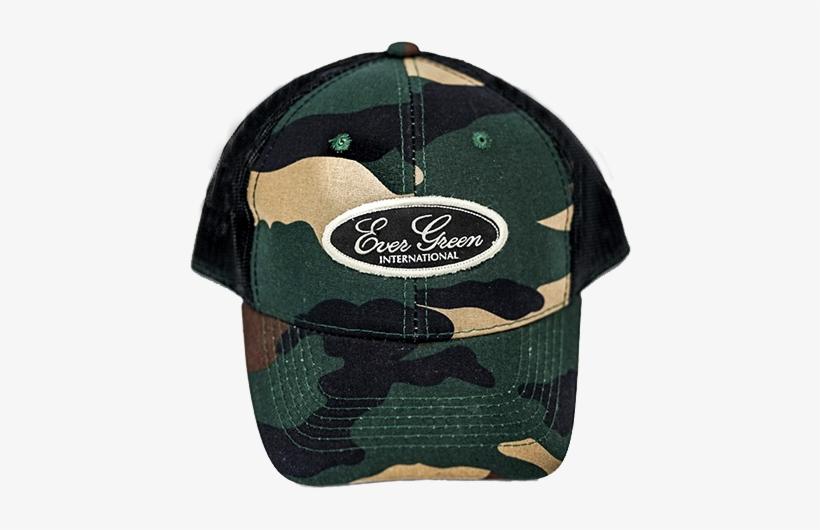 4ca63f700ed Evergreen Camo Trucker Hat - Ever Green International Transparent ...
