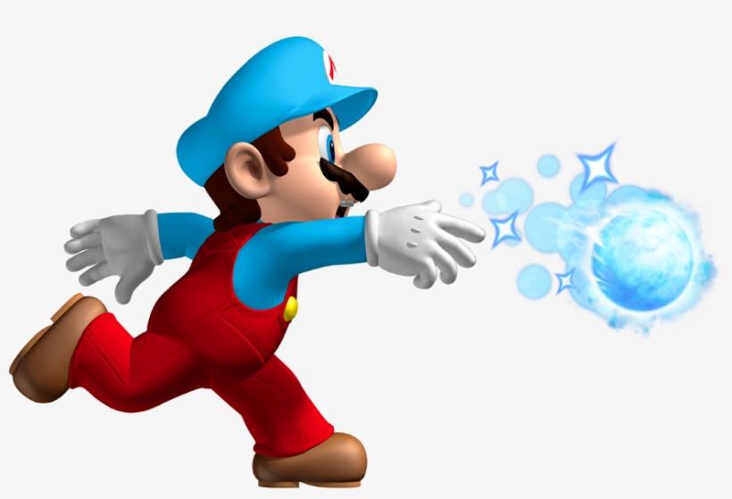Mario With Ice Flower Power Up Ice Mario New Super Mario Bros
